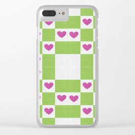 VALENTINES FABRIC PATTERN Clear iPhone Case