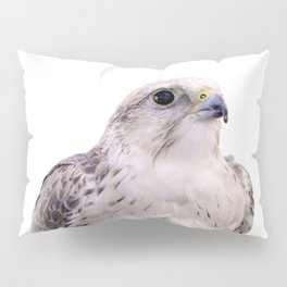Up Close and Personal with a Stunning Saker Falcon Pillow Sham