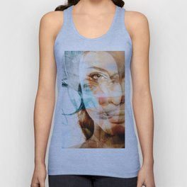 faces of Angelina Jolie Unisex Tank Top