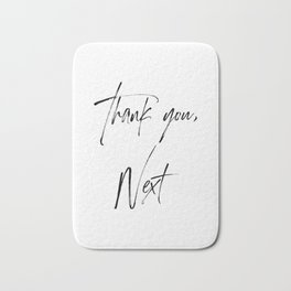 Ariana G. Quote, Thank U, Next, Lyrics, Home Decor, Wall Art, Wall Decor Bath Mat