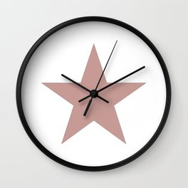 Ancient rose star on white Wall Clock