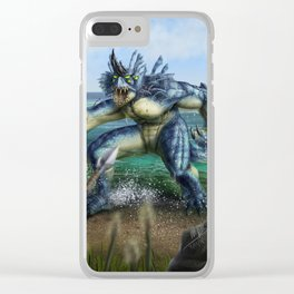 Lake Monster Clear iPhone Case