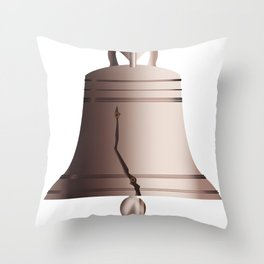 Liberty Bell With Crack Throw Pillow