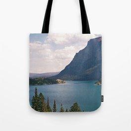 Sun Point, Glacier National Park, 35mm Tote Bag
