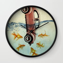 Bug and goldfish Wall Clock
