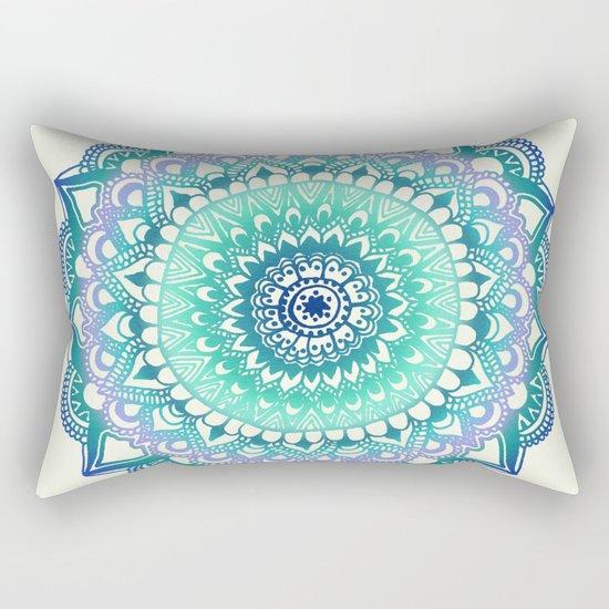 Deep Forest Flower Rectangular Pillow