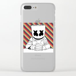 slow mellow Clear iPhone Case