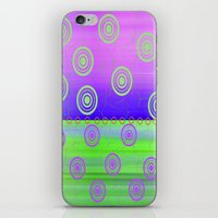 circles iPhone & iPod Skins featuring Circles by Fine Art by Rina