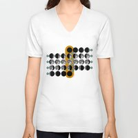 moon phases V-neck T-shirts featuring The Moon phases by tuditees
