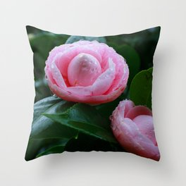 Camellias Throw Pillow