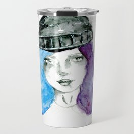 Random girl Travel Mug