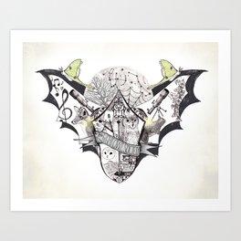 The Night Owl Society - Illustrated by Taren S. Black Art Print