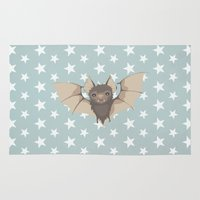 bat Area & Throw Rugs featuring Bat by Mr and Mrs Quirynen