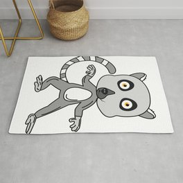 Unique & Funny Ringtail Cat Tshirt Design Mascot Design Rug