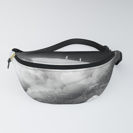 State of black and white isolation Fanny Pack