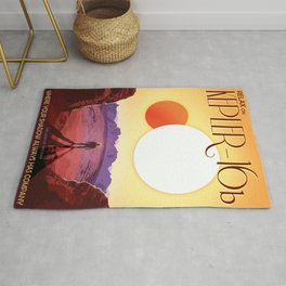Relax on Kepler 16b vacation advert Rug