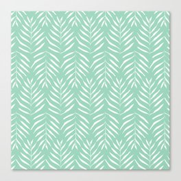 Aquamarine palm tree pattern Canvas Print