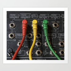Korg Ms 20 Modular coloured patches cords Art Print