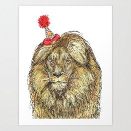 Lion Party Art Print