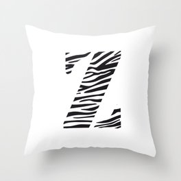 Z-ebra Throw Pillow