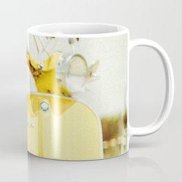 Yellow Scooter #vespaprint #italyphoto #travel #modstyle #yellowmustard Coffee Mug