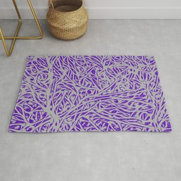 Grey Coral - Abstract Minimal Nature Rug