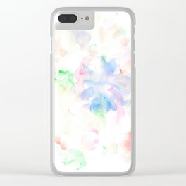 170322 Soft Pastel Watercolour 10 |Modern Watercolor Art | Abstract Watercolors Clear iPhone Case