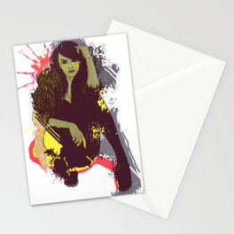 woman K. Stationery Cards