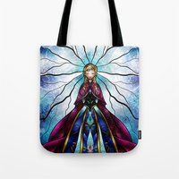mandie manzano Tote Bags featuring The Little Sister by Mandie Manzano
