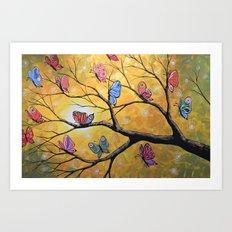 Butterfly Lights Art Print