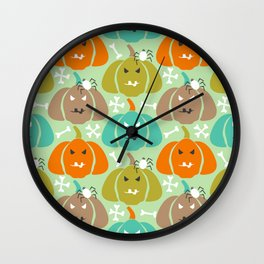Retro Halloween pattern Wall Clock