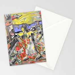 come-on  bitch.. Stationery Cards