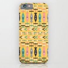 Fish aztec pattern- yellow iPhone 6s Slim Case