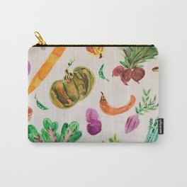 watercolor veggie market Carry-All Pouch