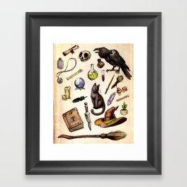 Witching Essentials Framed Art Print