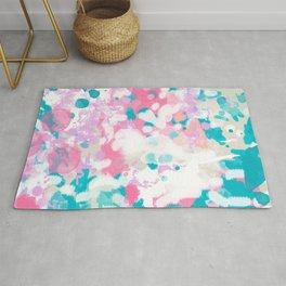 Rhea - abstract minimal painting pink and blue gender neutral nursery Rug