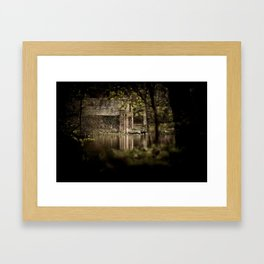 Creepy Boathouse Framed Art Print