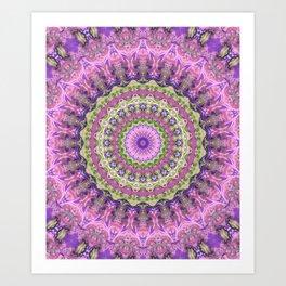 Vibrant Fractal Kaleidoscope 2 Art Print
