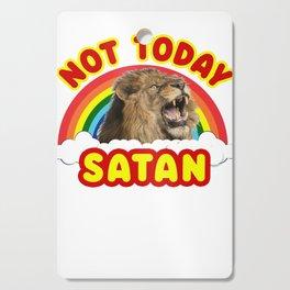 Funny Satan Roaring Lion Not Today Death Metal Rainbow Cutting Board