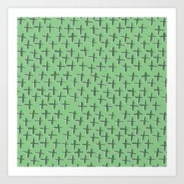 Green++ Abstract Art Print