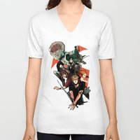 mortal instruments V-neck T-shirts featuring The Mortal Instruments by The Radioactive Peach