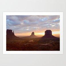 Sunrise over Monument Valley Art Print