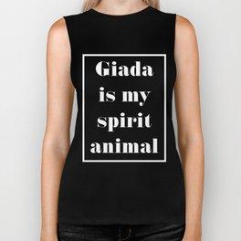 Giada is my spirit animal (white) Biker Tank