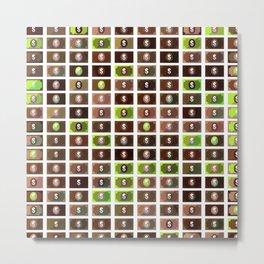 Dollar Pattern 11 Metal Print