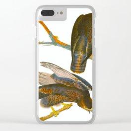Black Warrior Bird Clear iPhone Case