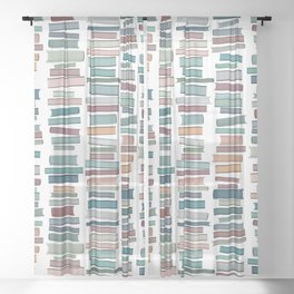 Books Pastel, Living Room Art, Book Worm Sheer Curtain