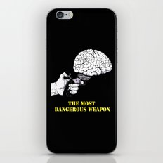 THE MOST DANGEROUS WEAPON (Black) iPhone & iPod Skin