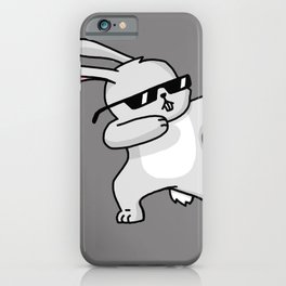 Dabbing Easter Bunny iPhone Case