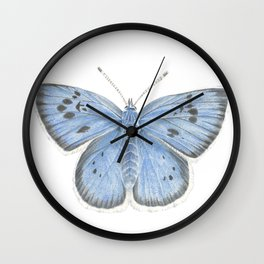 Large Blue Butterfly Watercolour Wall Clock