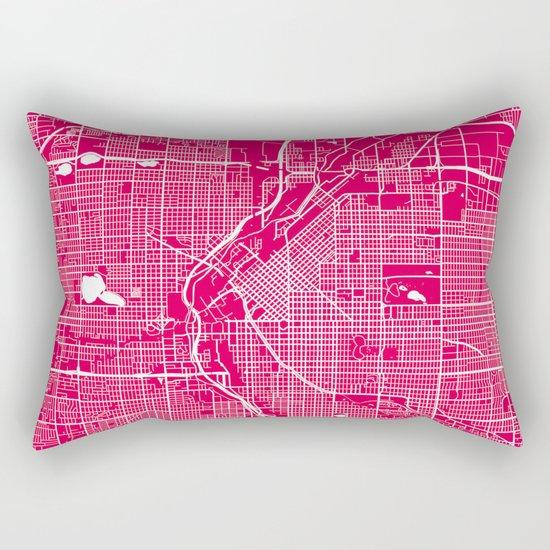 Denver map raspberrry Rectangular Pillow